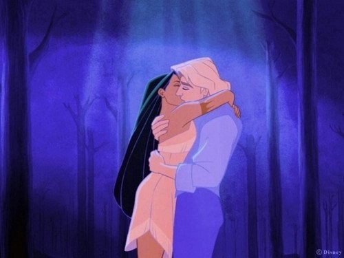 pochaontas il bacio romantico Smith