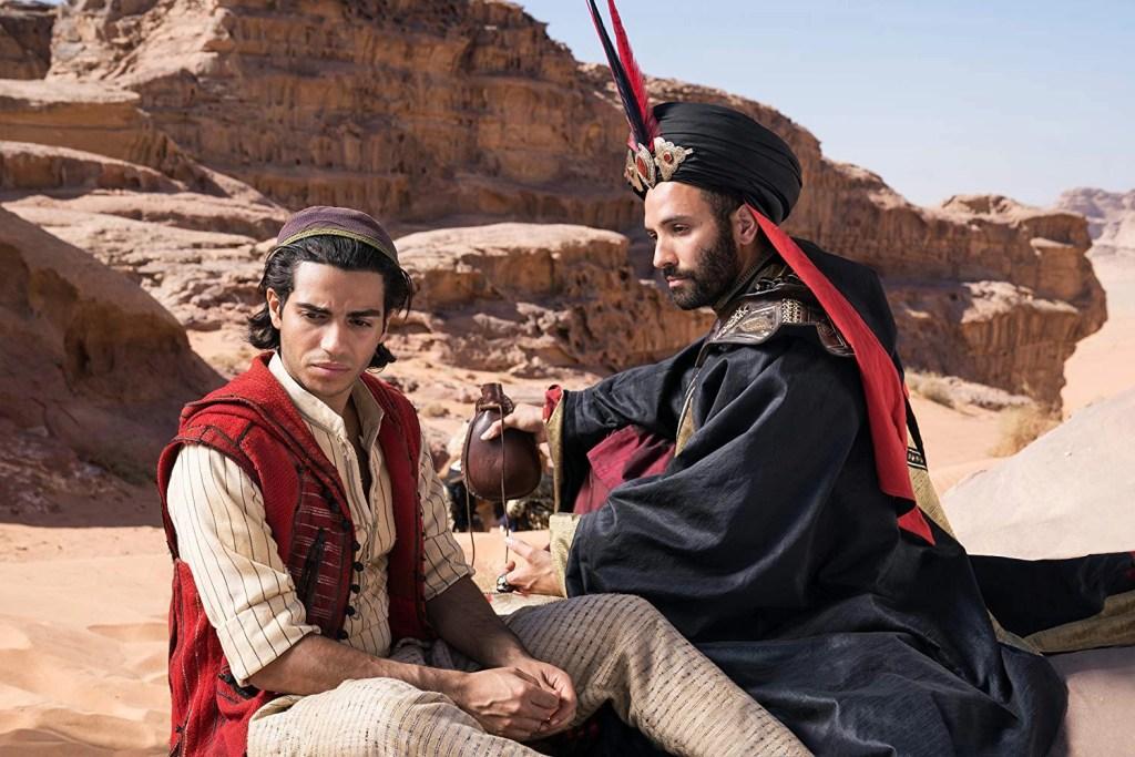 Marwan Kenzari and Mena Massoud in Aladdin (2019)
