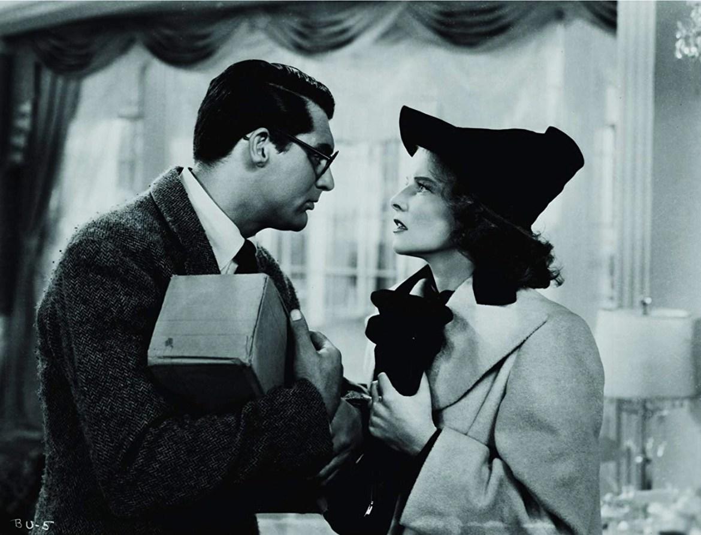 Cary Grant and Katharine Hepburn in Bringing Up Baby (1938)