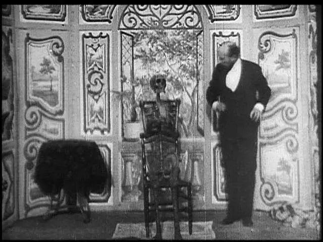 scheletro Escamotage d'une dame chez Robert-Houdin scena