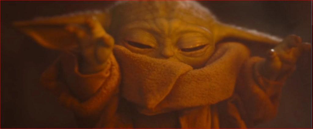 Il piccolo Yoda in The Mandalorian