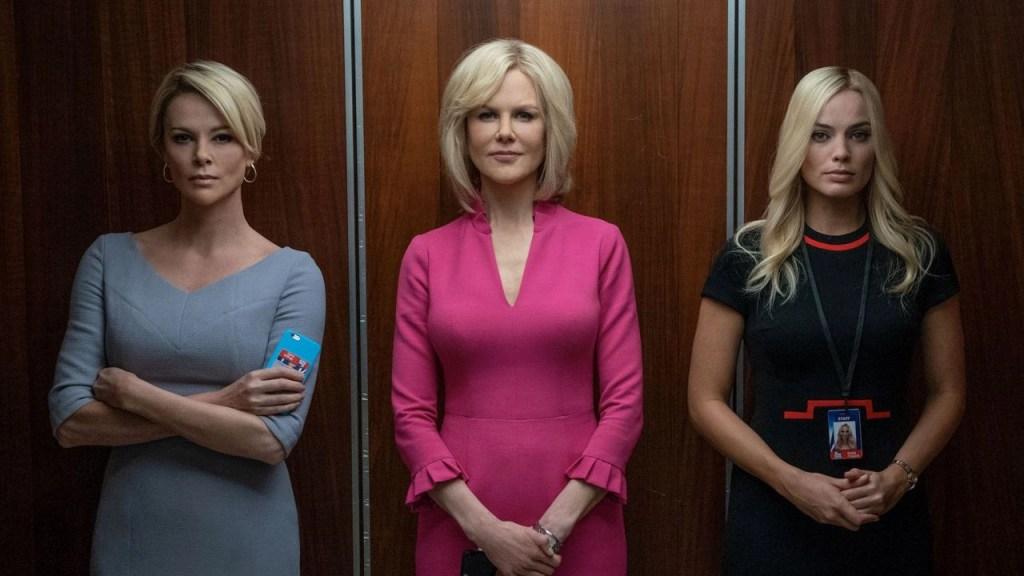 Charlize Theron, Nicole Kidman e Margot Robbie in Bombshell - La voce dello scandalo