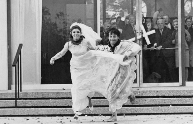 "Katharine Ross e Dustin Hoffman ne ""Il Laureato"" (1967)"