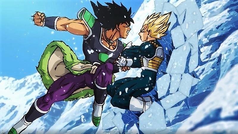 Broly vs Vegeta in una scena del film - Dragon Ball Super : Broly