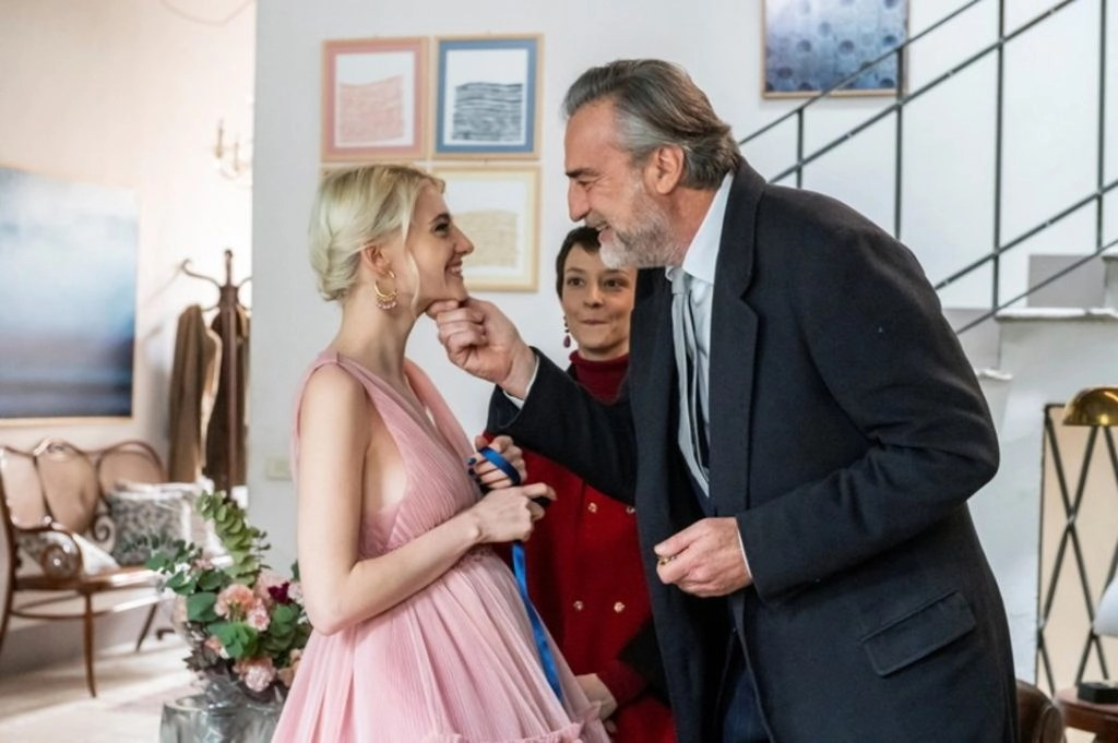 Demetra Bellini (Emma) e Max Tortora (Matteo) in una scena della serie tv