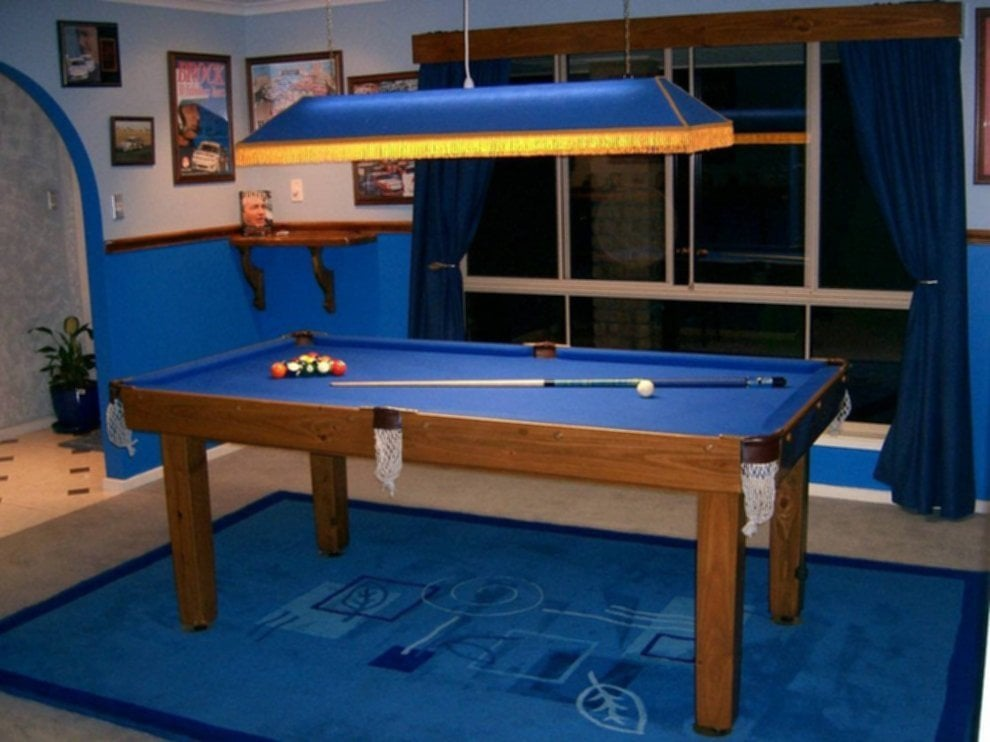 Modern Pool Tables With Lighting For Sophisticated Look