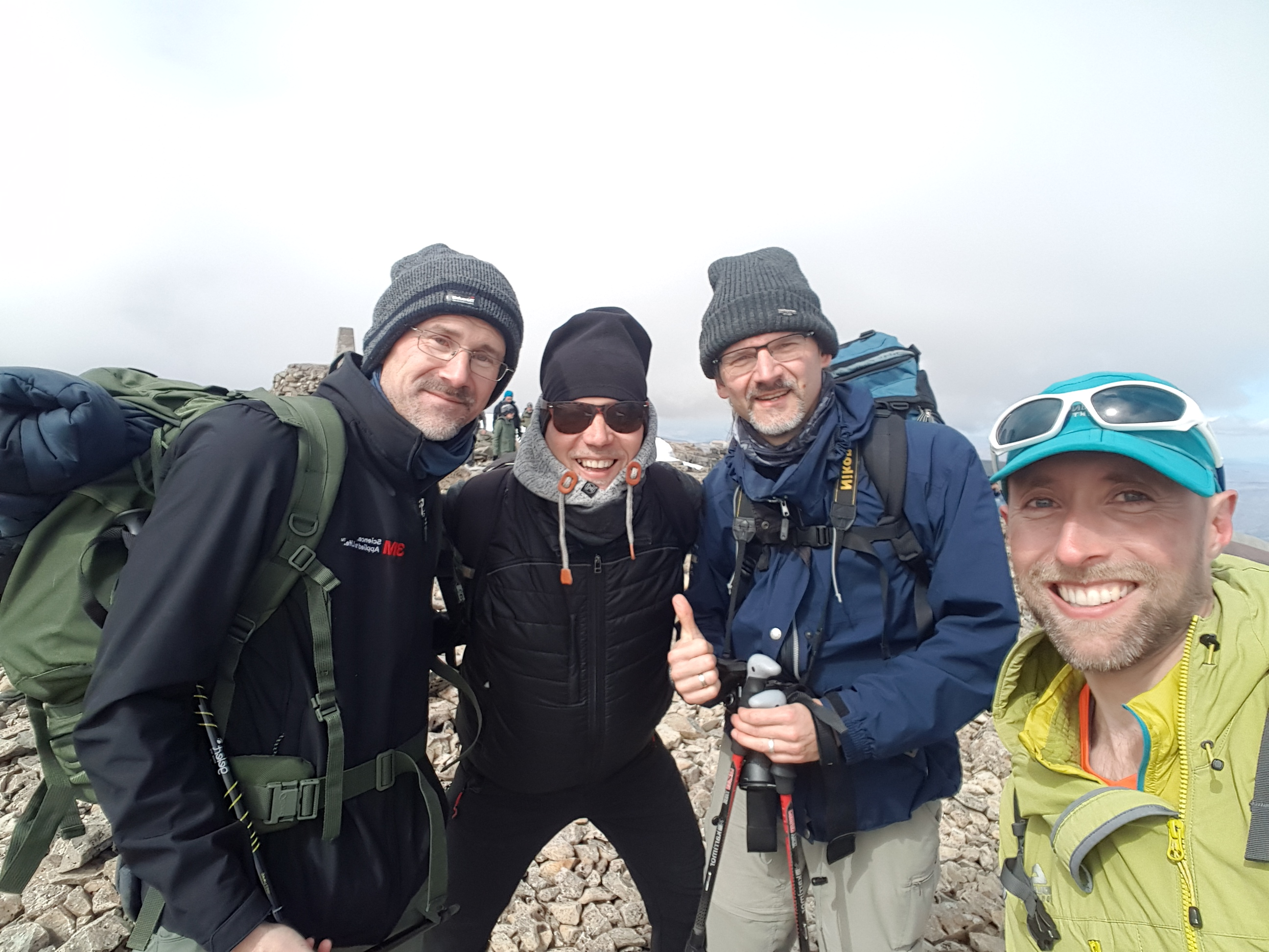 smiles at the top of Ben Nevis