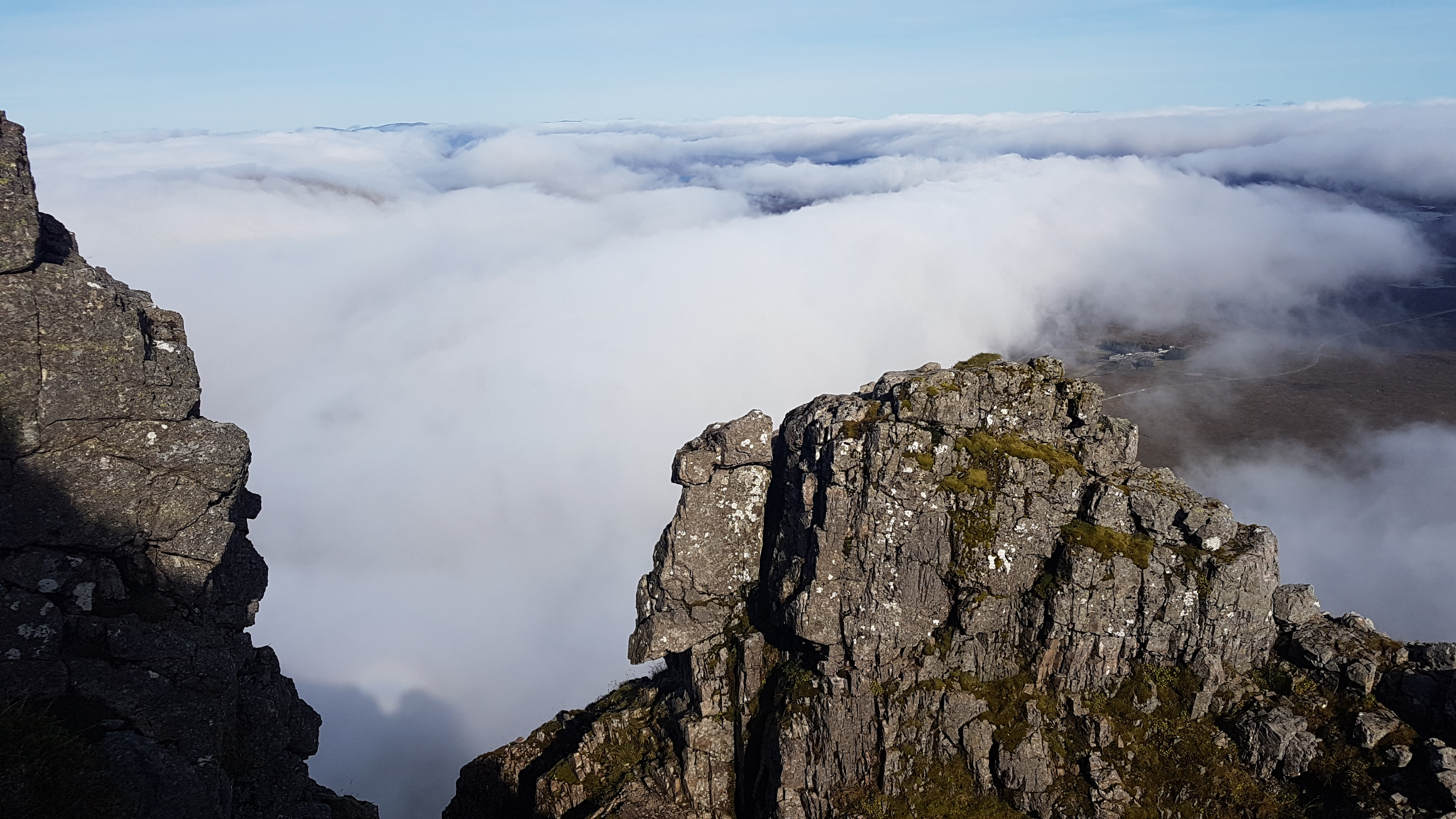 Stunning views on Curved Ridge, Glencoe with a Curved Ridge Guide from Lochaber Guides.