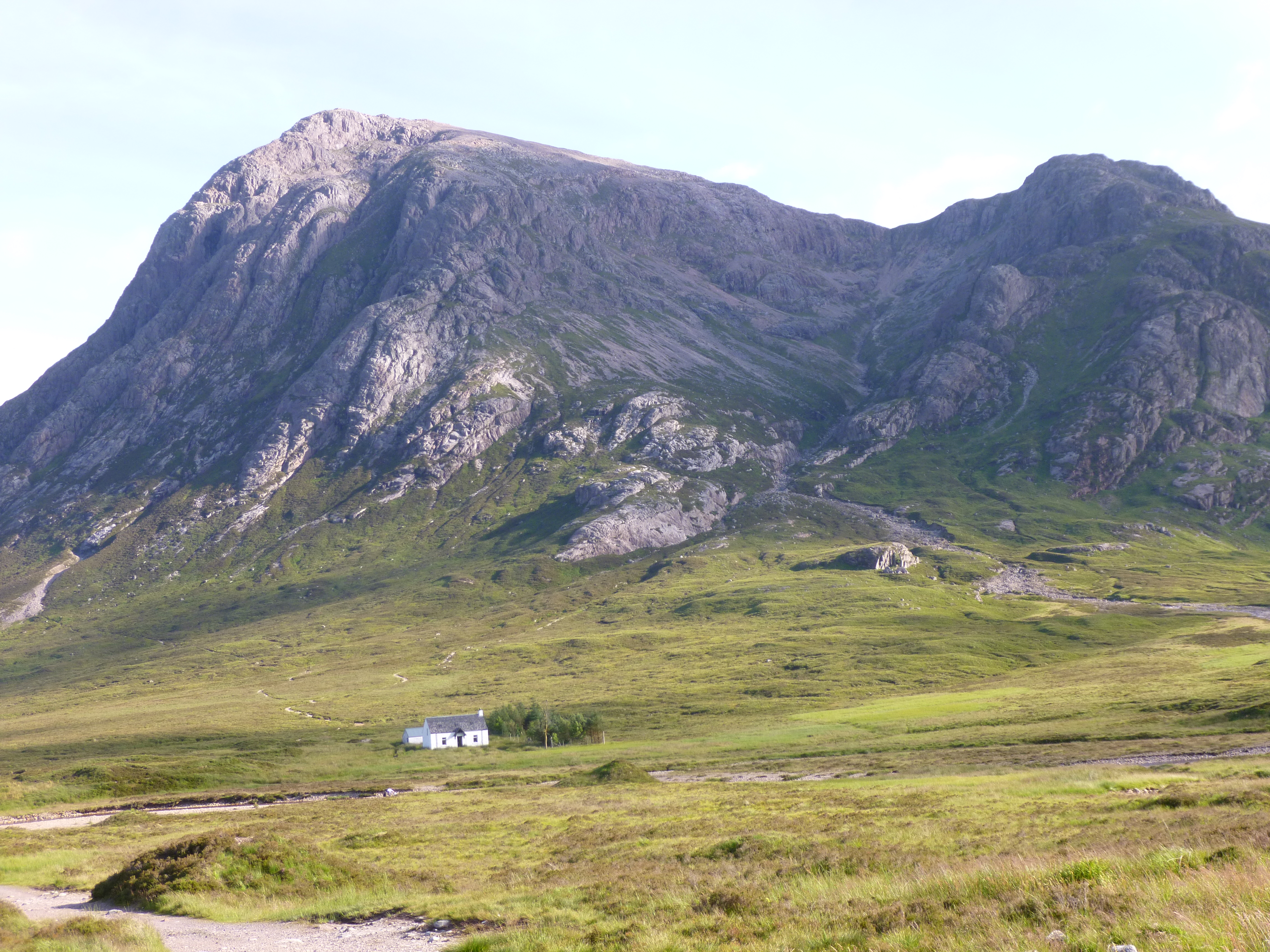 Buachaille Etive Mor, Glencoe on the way to a Guided ascent of Curved Ridge