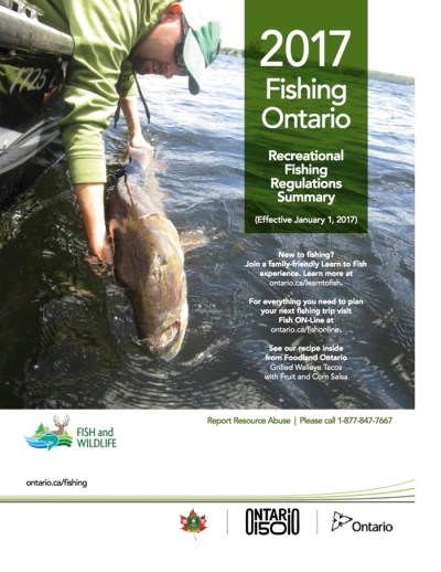 2017 Ontario Recreational Fishing Regulations Cover