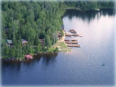 Camp Lochalsh Aerial View - Ontario Fishing