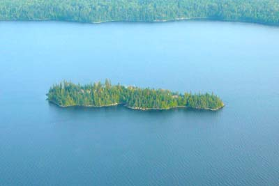 Otter Island Aerial View - Ontario Fishing