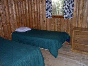 Otter Island Cabin Bedroom - Ontario Canada Fishing Lodge