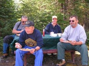 Guests at Shore Lunch on Wabatongushi Lake