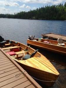 18 foot Cedar Strip Boats at Dock