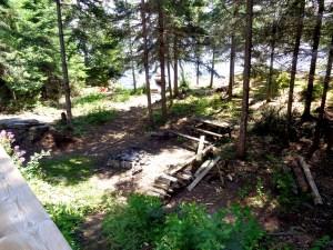 Otter Island Big Cabin Look Toward Dock