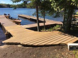 New dock on Loch Island