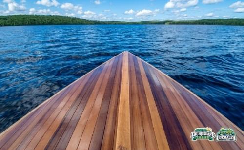 Loch Island Lodge Cedar Boat on Wabatongushi Lake, Ontario Canada