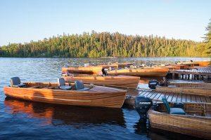 Loch Island Lodge Docks with Boats