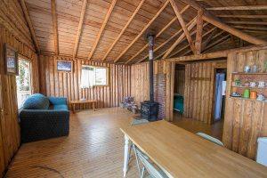 Otter Island 2 Bedroom Cabin Kitchen / Living