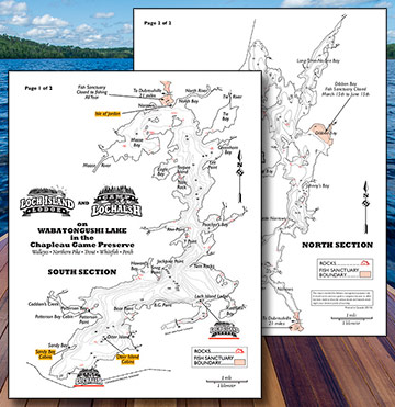 Loch Island & Camp Lochalsh - Wabatongushi Lake Map