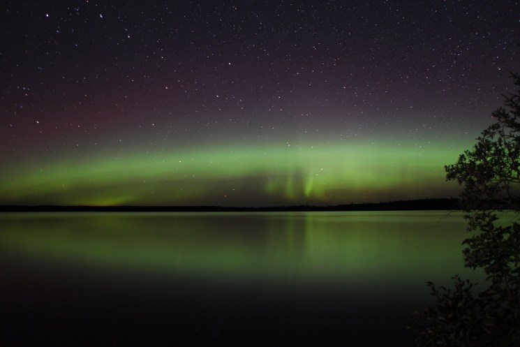 Northern Lights off Loch Island