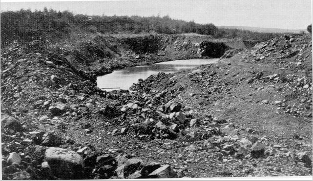 Pyrite at Nicho Lake, Goudreau, in 1931.