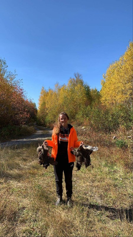 Taylor out grouse hunting with Ryan. Grouse has been amazing this year!