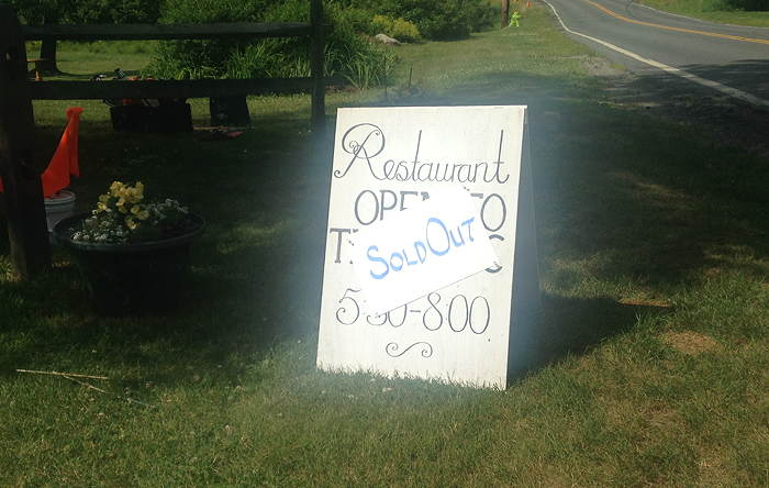 Restaurant Sold Out