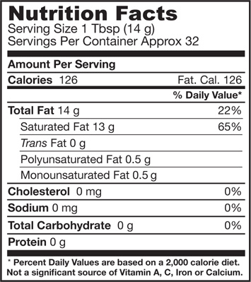 nutritional-table-coconut-oil