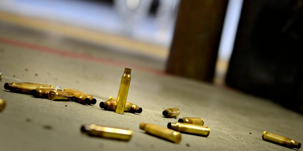 Spent ammunition at the range