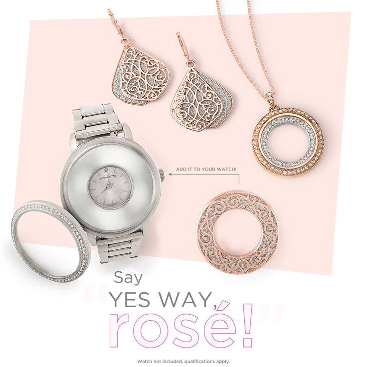 Origami Owl Yes Way Rose Locket Loaded With Charm