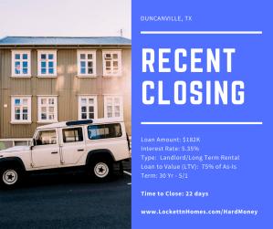Recent Closing - Duncanville - 11.05.17