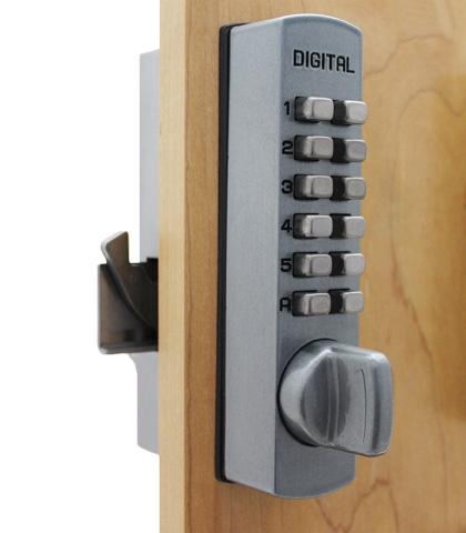 keyless lock for sliding glass doors