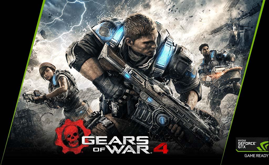 NVIDIA dá Gears of War 4 na compra de GTX 1070 e GTX 1080