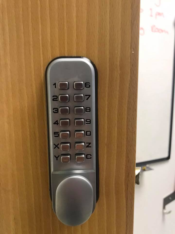 Digi Lock fitted by locksmiths gloucester