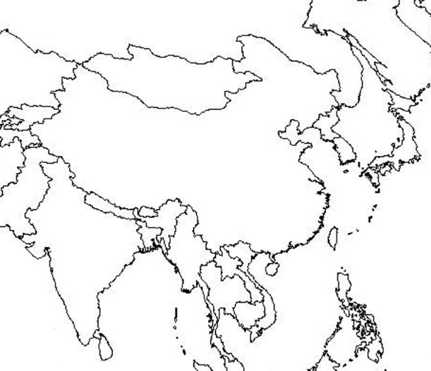 Maps Subcontinent Indian Empty