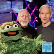 Oscar the Grouch and Anderson Cooper perform at the Daytime Emmys.