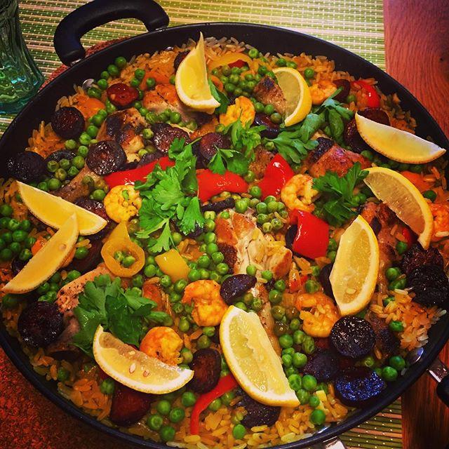 Self-made Paella - check! #tasty #foodporn #tasteslikeholiday