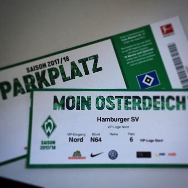 Game on - let's play ️ #svwhsv #weserstadion #osterdeich #nordderby #fussball #bundesliga #loge