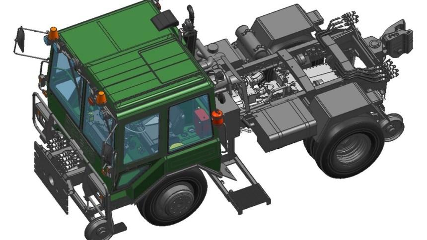 Тяговый модуль вагонов ТМВ вид общий