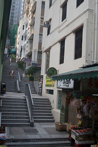 Stairs coming down SoHo