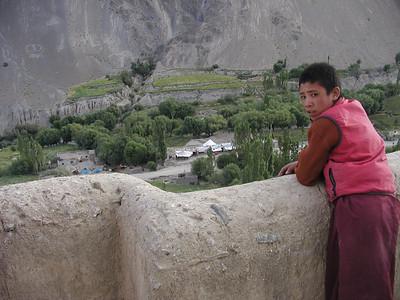 A little monk in Lamayuru