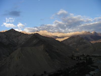 View of Himalayas in Lamayuru