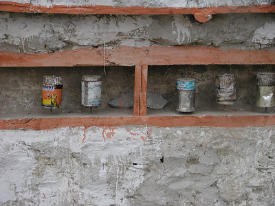 Makeshift Buddhist prayer wheels in Sumur