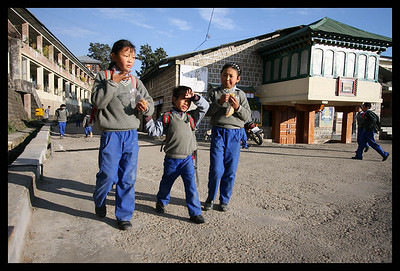School children in McLeodganj