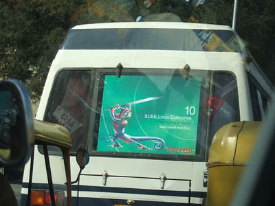 Suse ad on Blore bus