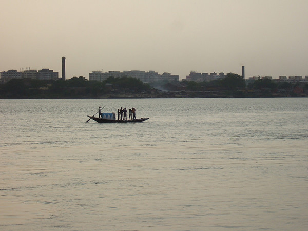 Outram ghat by the banks of river Hooghly in Calcutta