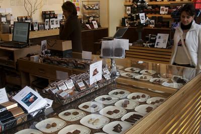 Elegant store and chocolates