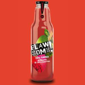 Flawsome - Apple & Strawberry 750ml (Glass Info) - Available on LocoSoco